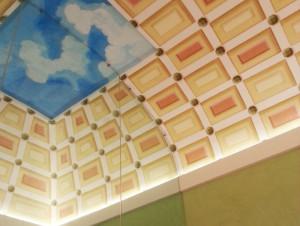 parete divisoria a soffitto particolare