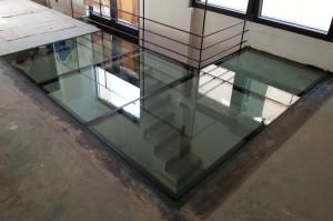pavimento in cristallo