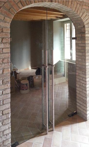 Porta in cristallo ad arco leali vetri vetrocamera isolanti e arredo design - Porte interne ad arco ...