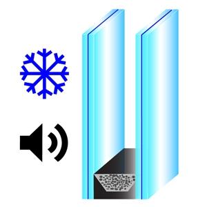 vetrata isolamento acustico