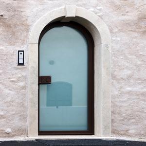 Porta ingresso ad arco in cristallo - Porte ingresso vetro ...