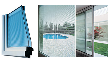 ScreenLine® sezione telaio tenda, installazioni veneziane in vetrocamera.